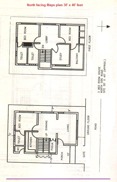 Maps10North facing plan complete